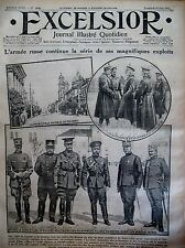 WW1 LOUTSK DOUBNO EXPLOITS ARMéE RUSSE ITALIEN FRONT TRENTIN EXCELSIOR 16/6/1916