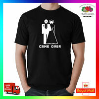 Game Over Tee Tshirt T-Shirt Funny Wedding Stag Do Hen Groom Bride Party Cool