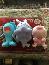 Lot Of Two Pokemon And Not Minecraft Wabbuffet Going Baby Pig Stuffed Toys