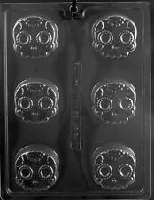 Skull Cookie Oreo Chocolate Mold Soap Candy  SHIPS SAME DAYm313