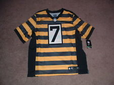 BEN ROETHLISBERGER 7 STEELERS AUTHENTIC 3RD NIKE ELITE FOOTBALL JERSEY sz 48 NWT