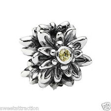 Authentic Pandora 791176CZY Edelweiss Yellow Charm Bead Box Included