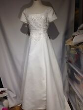 Alfred Angelo Wedding Dress Gown Ivory White with Fancy Beaded Bodice
