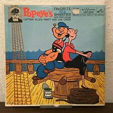 Popeye's Favorite Sea Shanties And Other Songs 1959 Vinyl RCA Victor Records