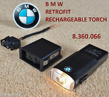 Genuine BMW Glovebox Rechargeable Torch Flashlight + Socket Plug E46 E38 E39 X5