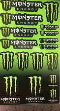 Monster Energy Drink Logo Sheet of 17 Stickers Decals Sticker 170mm x 300m sheet