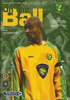 Football Programme - Norwich City v Bolton Wanderers - Premiership - 2004
