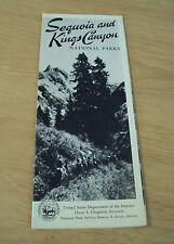 "VTG 1951 TRAVEL Brochure~""SEQUOIA and KINGS CANYON NATIONAL PARK""~Map~Ephemera~"