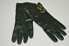 COACH NWT WOMENS 82055 GREEN METAL BUCKLE LEATHER & CASHMERE GLOVES SZ: 6.5 $128