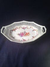 SCHUMANN BAVARIA FLORAL RETICULATED OVAL SERVING DISH