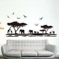 Removable African Animal Safari Themed Wall Sticker Home Room Mural Decor DIY