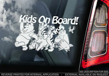 Kids On Board - Winnie the Pooh Car Sticker - PERSONALISE: Baby, Child, Name...