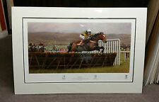 ISTABRAQ Champion Hurdle Cheltenham 1998,by Peter Curling,Ltd edt,signed PRINT