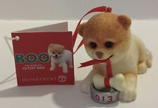 2013 DEPARTMENT 56 BUDDY BOO INC BOO THE WORLD'S CUTEST DOG ORNAMENT W/BONE NEW