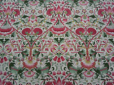 William Morris Curtain Fabric  'Lodden' 3.9 METRES Rose/Thyme  100% Cotton