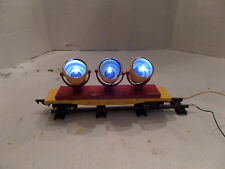 American Flyer compatable 3 light  searchlight car LED lights