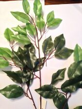 42 Green Artifcal Silk Leaves On3Wire Stems Weddings And Crafts