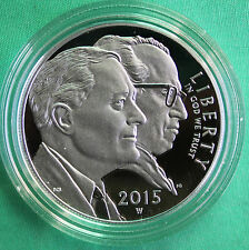 2015 W March of Dimes Proof 90% Silver Dollar Coin with Box and COA