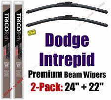 Wipers 2 Pack Premium Wiper Beam Blades - fit 1997-2004 Dodge Intrepid 19240/220
