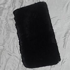 CHIC VINTAGE FABRIC BLACK FAKE FUR MUFF DEEP COULD WEAR OVER HEAD AROUND NECK