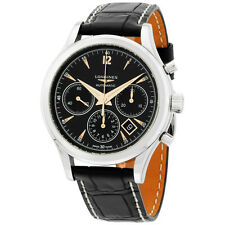 Longines Flagship Heritage Automatic Chronograph Black Dial Men's Watch 27504560