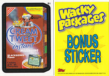 2011 WACKY PACKAGES ALL NEW SERIES 8 (ANS8) BONUS STICKER *CREAM OF TWEET* B1