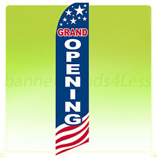 Feather Swooper Flutter Banner Sign 11.5' Tall Flag - GRAND OPENING USA bb