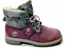 Timberland Roll Top Lilac Ankle Boot Size 5 US.