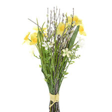 Artificial Silk Flowers Daffodil Spring Bundle 36cm