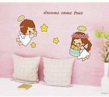 Cute Little Angels Dreams Come True Lovely Wall Sticker Baby Bedroom Decal Decor