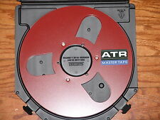 "BRAND NEW RED ATR MASTER EMPTY 1/4"" 10.5"" METAL REEL TO REEL RARE AKAI TEAC 3M 1"