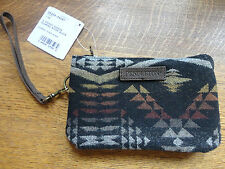 NWT Pendleton Wristlet Clutch Southwestern Diamond River Black 3 Pocket USA Wool