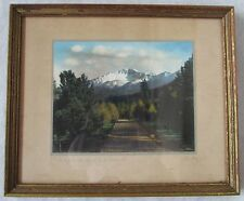 H L Standley Hand Tinted Autochrome Pikes Peak Colorado Woodland Park Signed