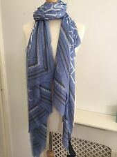 Tommy Hilfiger New Icon Scarf, Sky Blue BNWT RRP £45