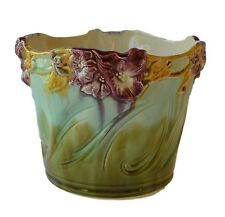 Art Nouveau French Majolica Jardiniere Planter Cache Pot - Flower