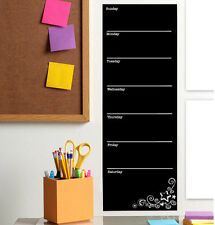 WALLIES CHALKBOARD WEEKLY CALENDAR PLANNER wall sticker home office dorm decal