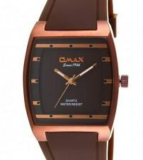 New Fashion Dress Style Omax Mens Watch Brown Strap Brown Dial Analog Quartz