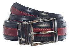 BELT_Men's Premium Handmade Genuine Leather Two Toned 6 Colors Gift_Blk / TEAL