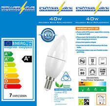 6x 6.5w Dimmable LED Energy Saving Light Bulbs SES Cap E14 Candle 40w/60w s8229