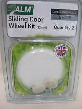 New ALM Greenhouse Sliding Door 22mm Wheel Kit Pk2 GH008