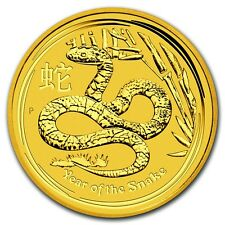 2013 1/10 oz Gold Australian Perth Mint Lunar Year of the Snake Coin -SKU #71324