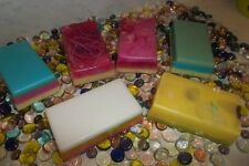 5LBS OF OVERPOUR SOAP'S..GOAT'S MILK, SHEA BUTTER & OLIVE OIL...GREAT DEAL!!