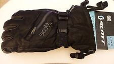 NEW SCOTT Gloves Sesi Leather Winter Snow Ski Insulated Black Women's Size M / 7