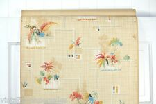 1920s Vintage Kitchen Wallpaper Colorful Ferns and Fruit Art Deco Inspired