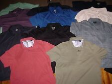 11 LARGE- POLO-SHIRTs-LOT CREW-TASSO-ELBA-GRAND SLAM-PGA-MERONA-.MENS L POLO LOT