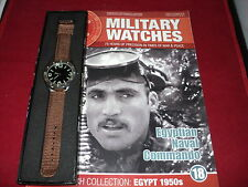Eaglemoss Military Watches - Issue 18 - Egyptian Naval Commando Watch 1950s.