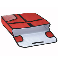 Insulated Pizza Storage Keep Warm Bag Food Delivery Travel Red Pouch 20x20x5in