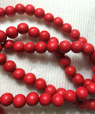 Red Round Wood Beads 12mm 16""