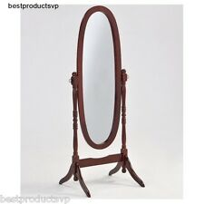 Full Length Standing Mirror Wood Floor Antique Cheval Dressing Stand Cherry Tilt
