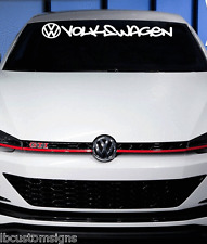 VW Volkswagen Windshield Lettering Decal Sticker jetta gti vw buggy beetle
